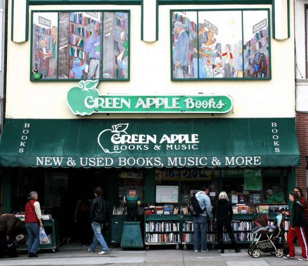 green apple books store front